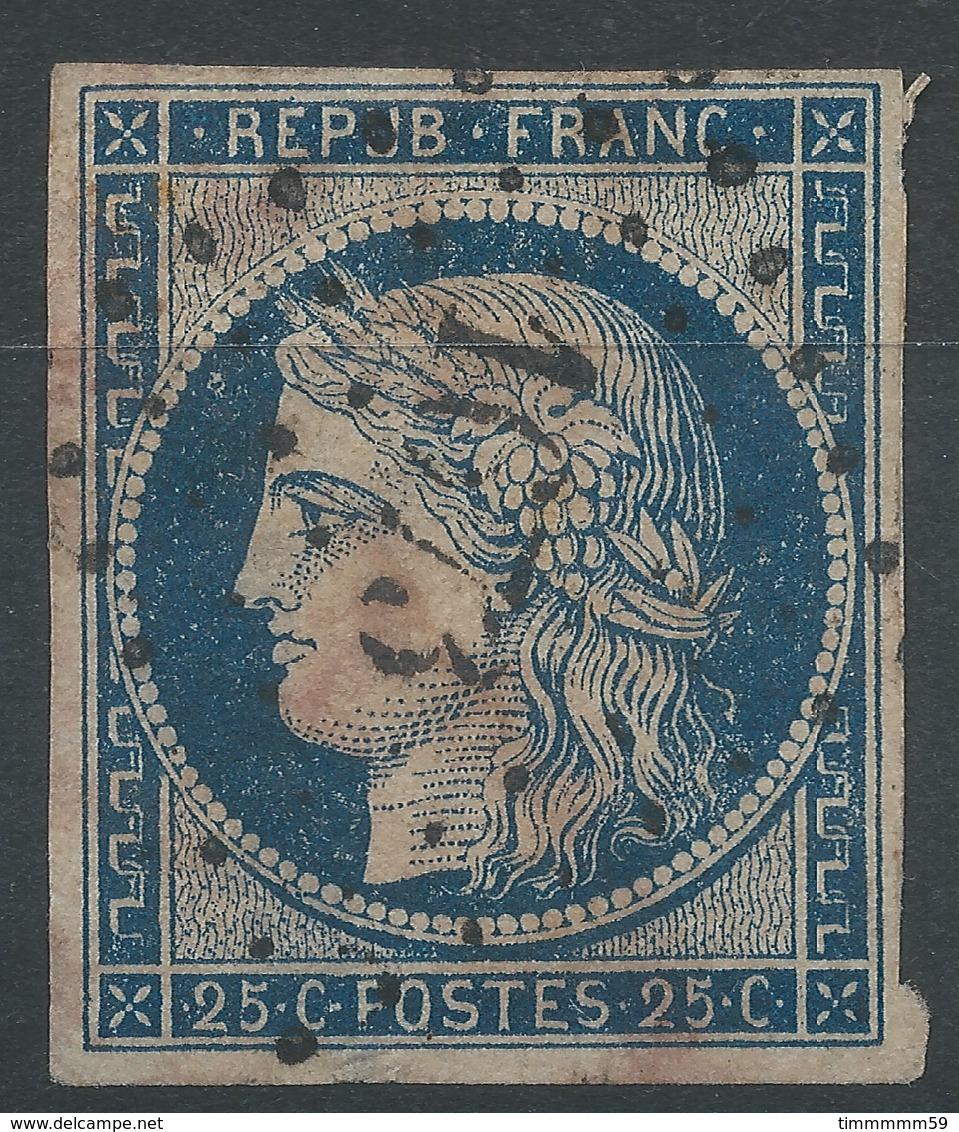 Lot N°47743  N°4a Bleu Foncé, Oblit PC 1673 Laval, Mayenne (51), Bonnes Marges, Clair 2é Choix - 1849-1850 Ceres