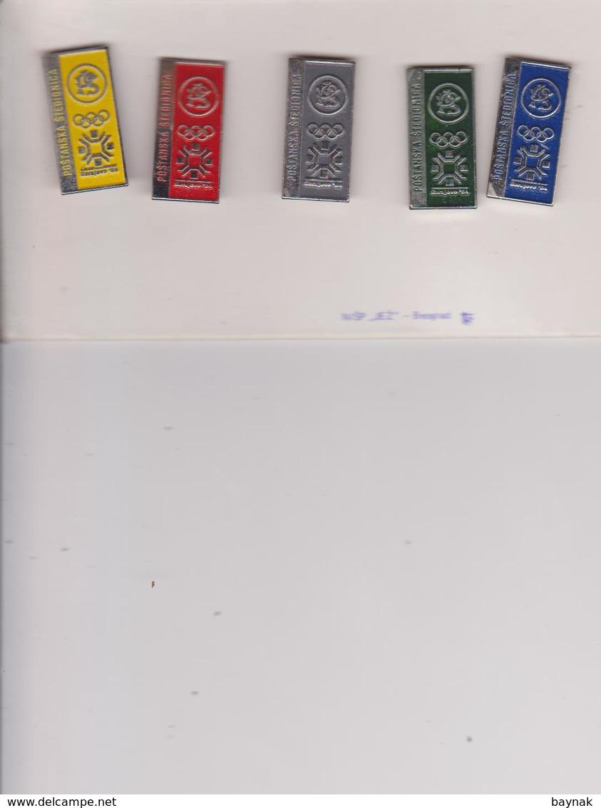 5 X PINS  ~~  OLYMPIC GAMES SARAJEVO  1984 - Olympische Spiele