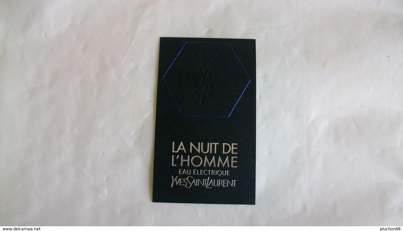 Carte Parfumées Yves Saint Laurent La Nuit De L'Homme Eau électrique - Perfume Cards