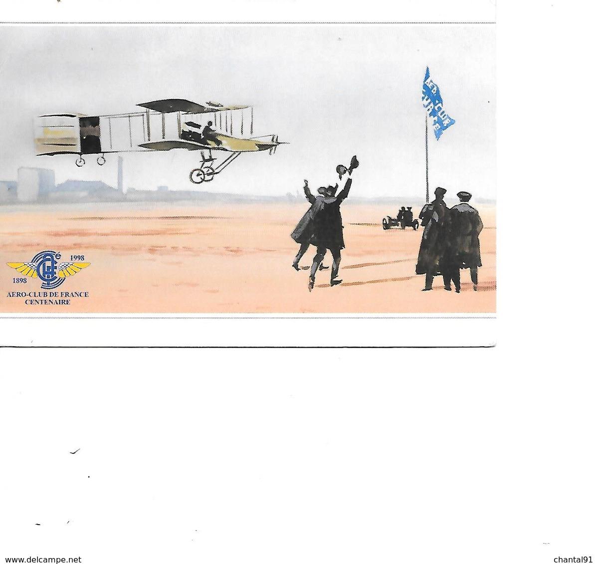 CARTE POSTALE PREMIER KILOMETRE EN CIRCUIT FERME - Avions
