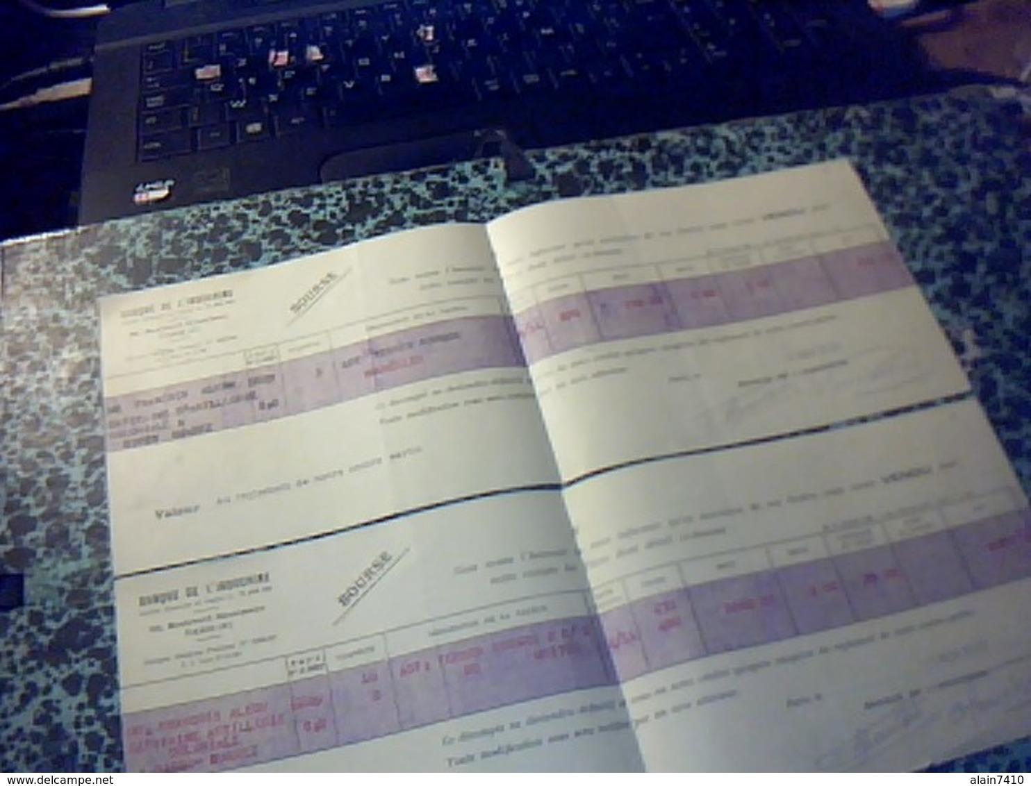 DocumentS Banque D Indochine D'un Capitaine D Artillerie Coloniale Base De Diego Suarez 1929 Actions Terrres Rouges - Banque & Assurance