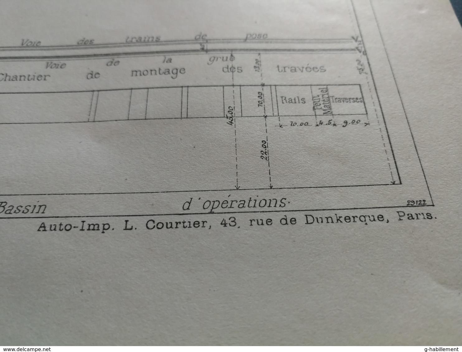 ANNALES DES PONTS Et CHAUSSEES - Plan De Pose Mécanique Des Voies Ferrées  Imp. L. Courtier 1898 (CLA9) - Máquinas