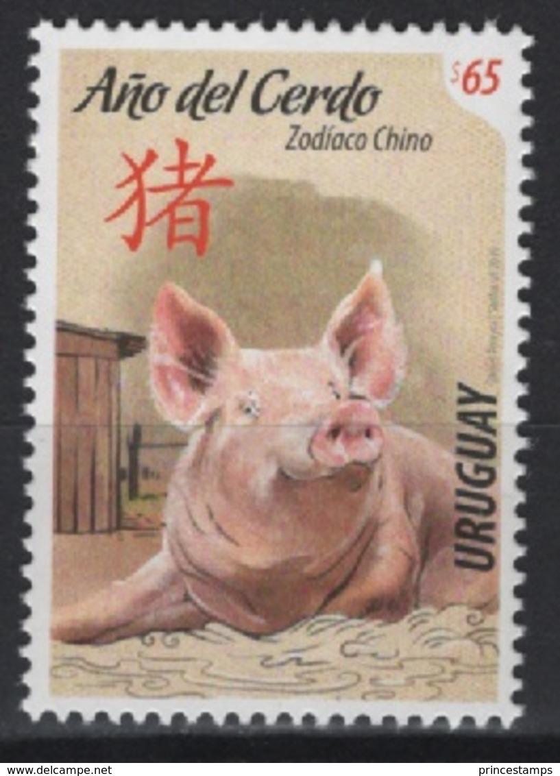 Uruguay (2019) - Set -  /  Chinese New Year - Pig - Cochon - Cerdo - Chinees Nieuwjaar