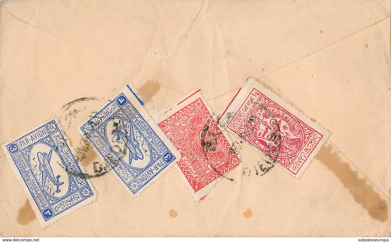 ARABIE SAUDITE. Cover Circulated. Stamps To Back. Air Mail. Postal History. - Arabia Saudita