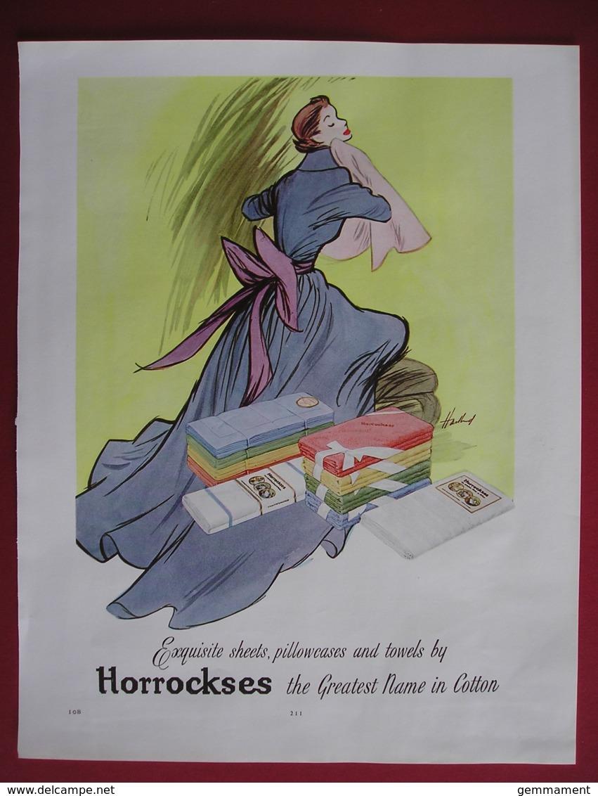 ORIGINAL 1952/3 MAGAZINE ADVERT FOR HORROCKSES SHEETS ETC - Advertising