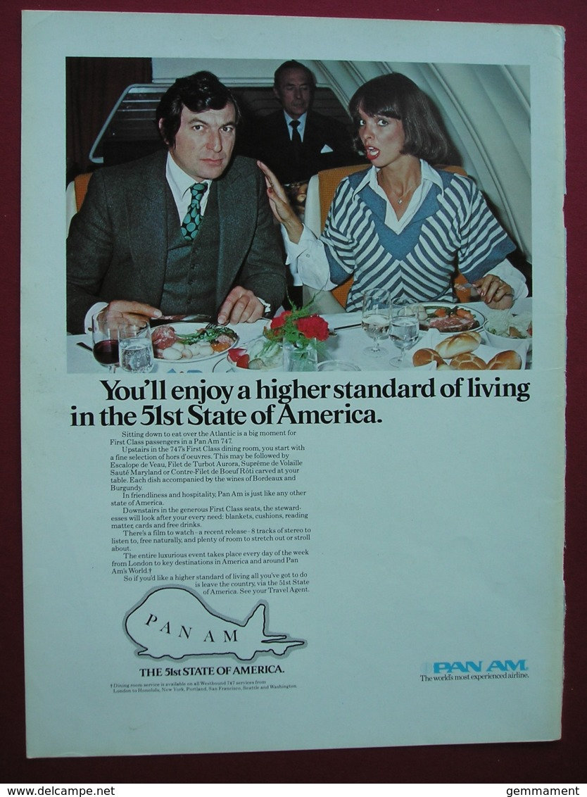 ORIGINAL 1977  MAGAZINE ADVERT FOR PAN AM  AIRLINES - Other