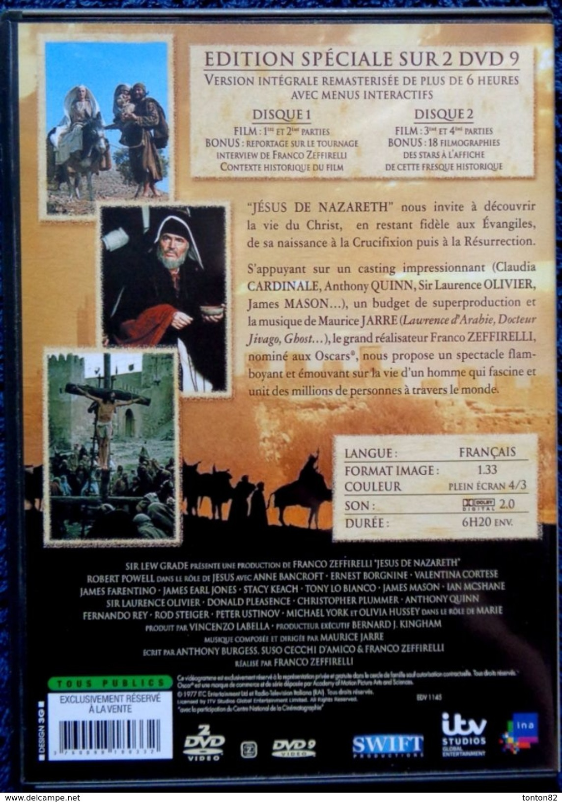 Jésus De Nazareth - De Franco Zeffirelli - Version Intégrale / 4 Parties En 2 DVD . - Geschichte