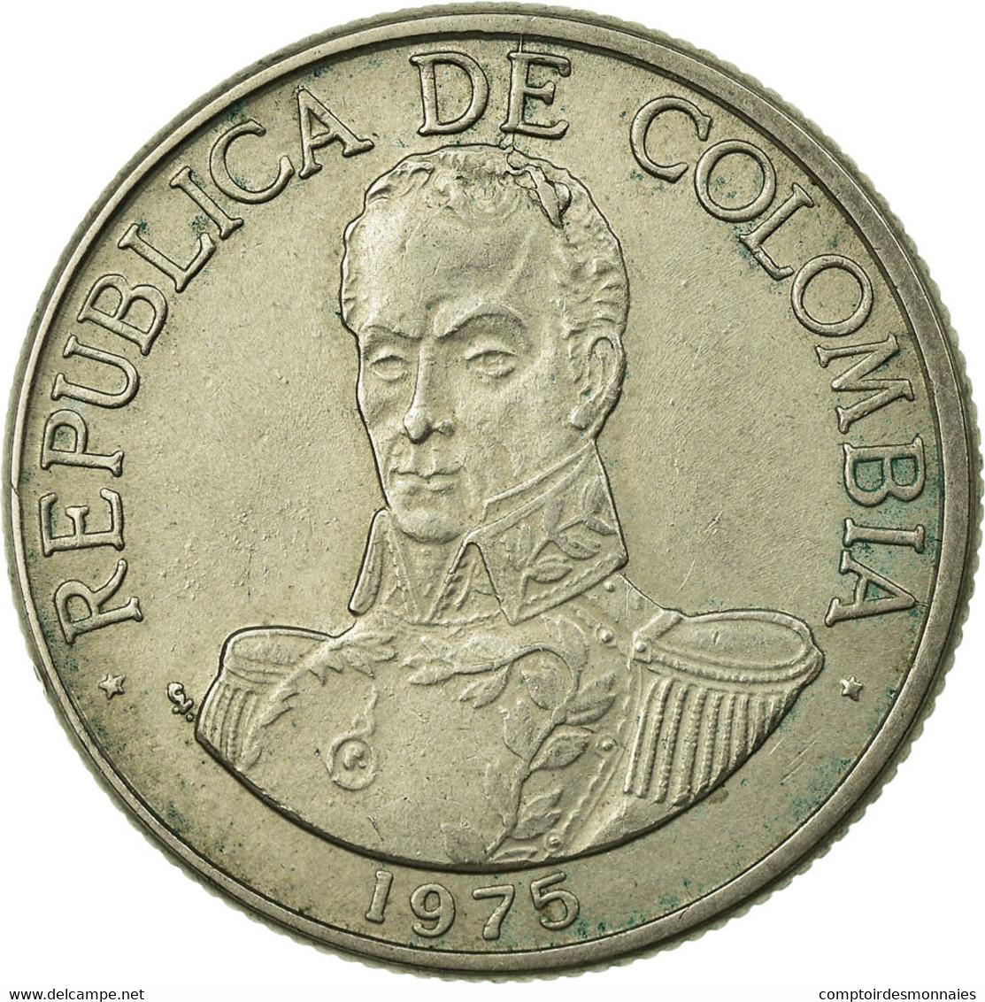 Monnaie, Colombie, Peso, 1975, TTB, Copper-nickel, KM:258.1 - Colombia