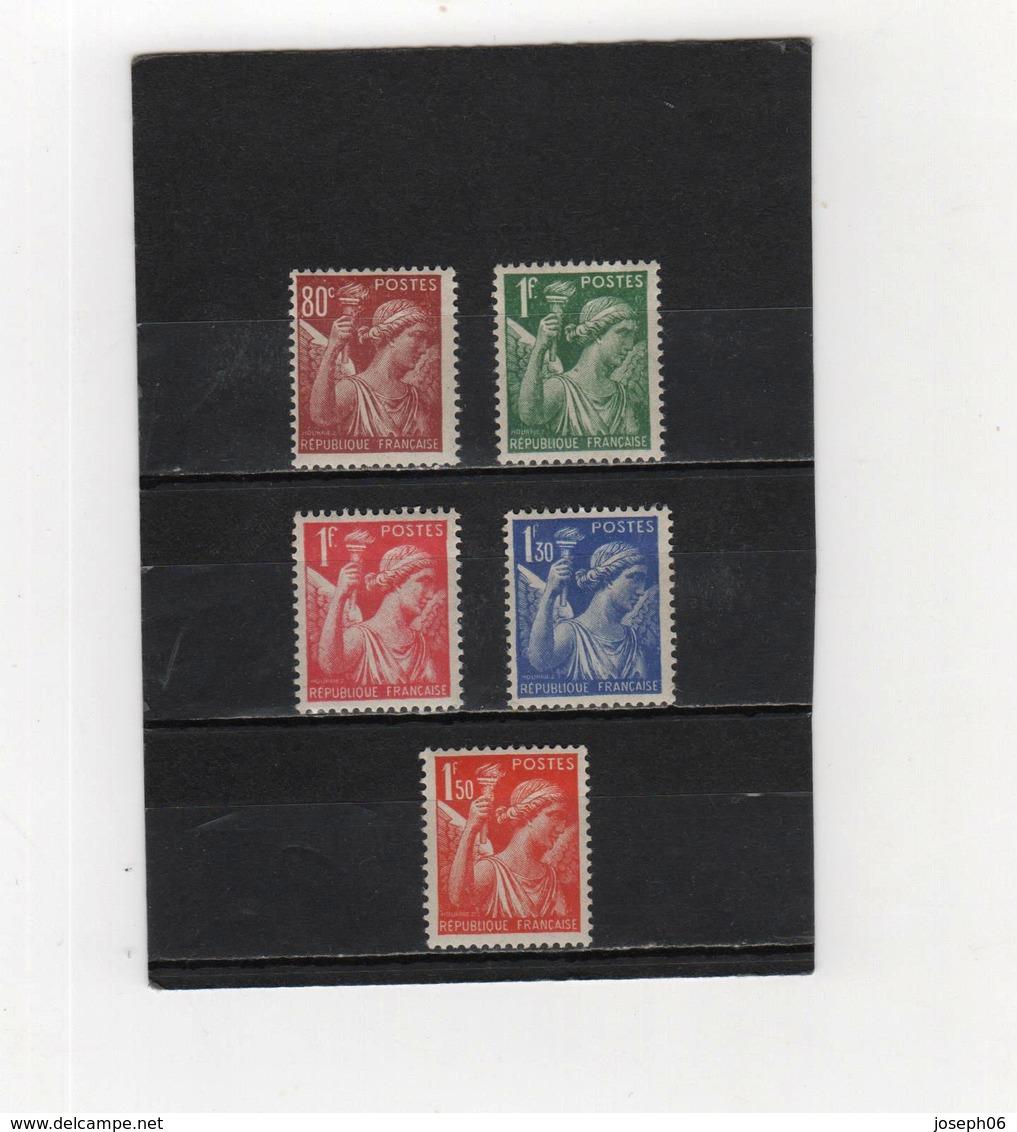 FRANCE   1939-41  Y.T. N° 431 à 435  NEUF** - 1939-44 Iris