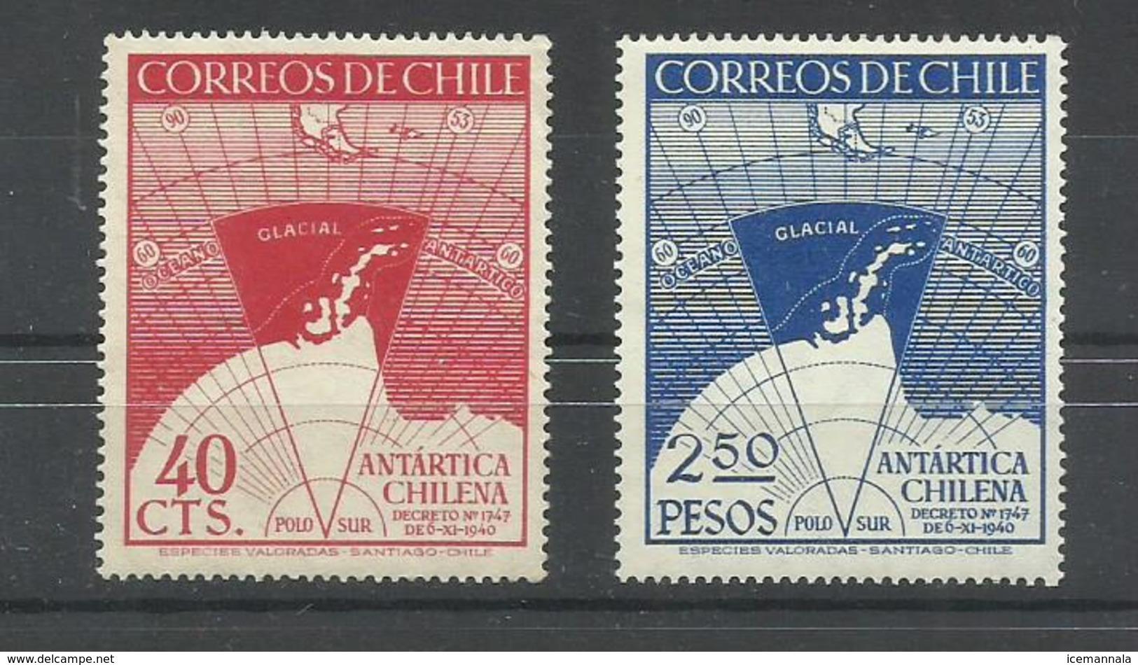 CHILE   YVERT   215/16   MNH  ** - Chile