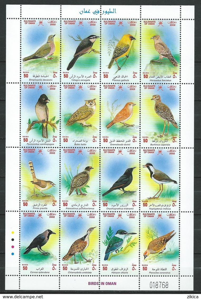 Oman 2002 Birds.M/S. MNH - Oman