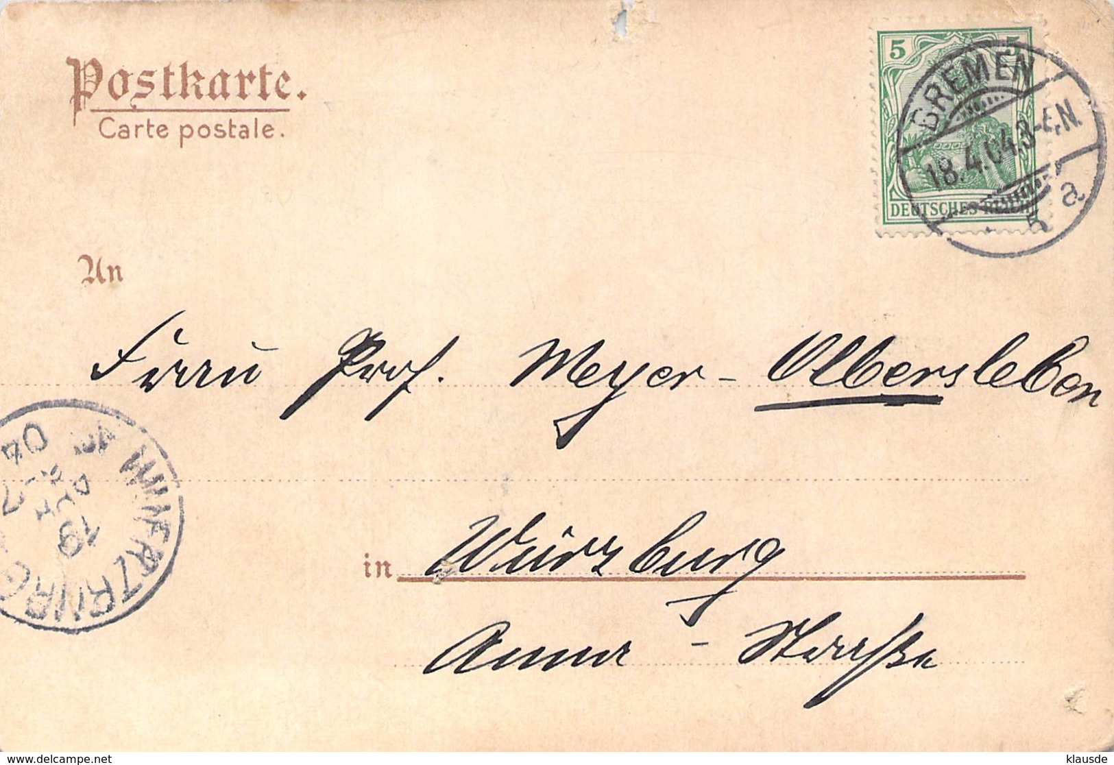 """Schnelldampfer """"Kronprinz Wilhelm""""  1904 AKS - Paquebots"""