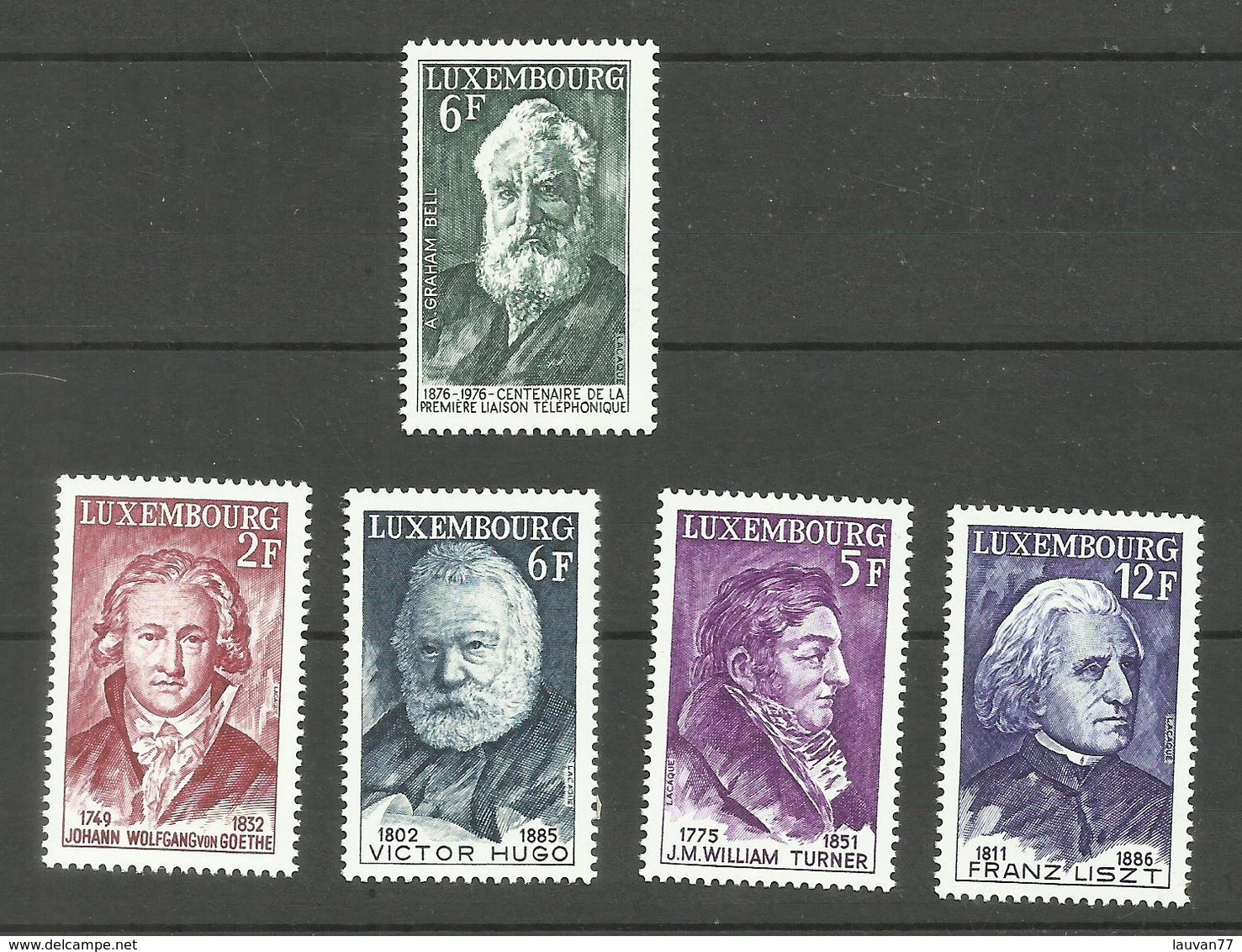 Luxembourg N°885, 891 à 894 Neufs** Cote 3.35 Euros - Unused Stamps