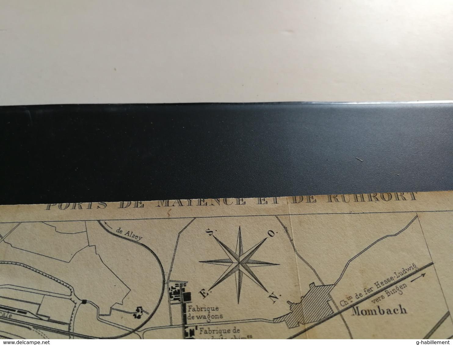 ANNALES PONTS Et CHAUSSEES (Dep 92) - Plan Des Ports De Mayence Et Ruhrort - Gravé Par Macquet - 1891 (CLA42) - Cartes Marines