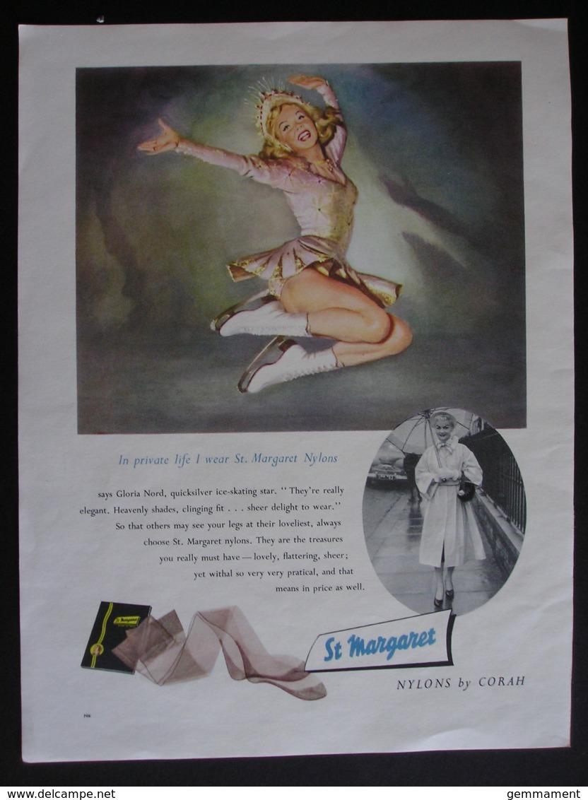 ORIGINAL 1956  MAGAZINE ADVERT FOR ST MARGARET NYLONS BY CORAH - Advertising