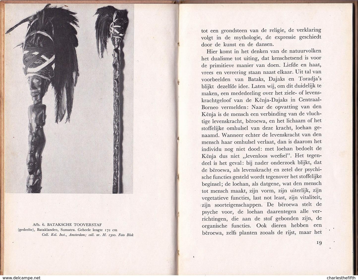 BATAKS - DAJAKS & TORADJA'S - Eerste Druk/first Edition 1940 With 19 Illustrations Masks Sorcery - Fetish - Art - Dutch - Boeken, Tijdschriften, Stripverhalen
