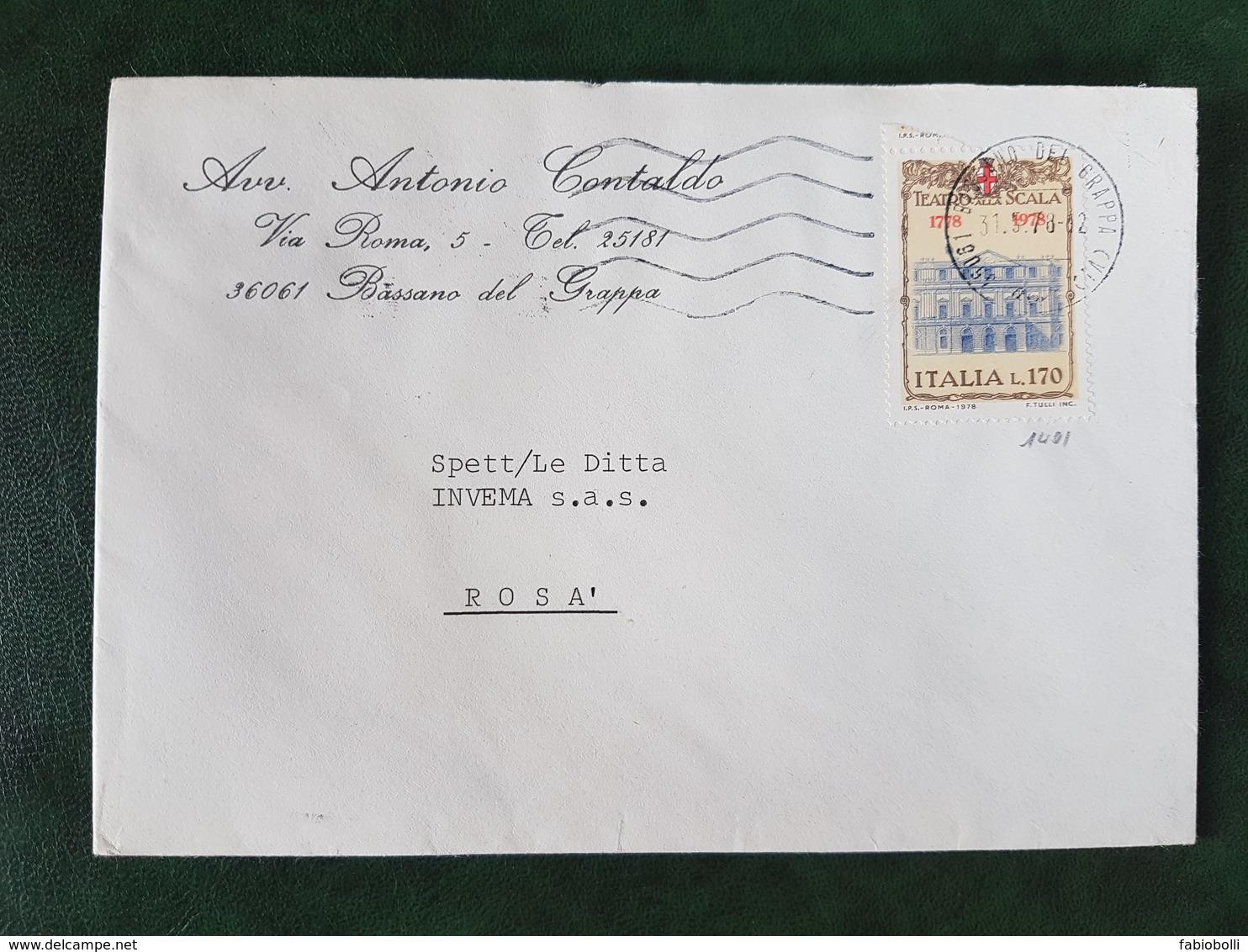 (30117) STORIA POSTALE ITALIA 1978 - 6. 1946-.. Repubblica