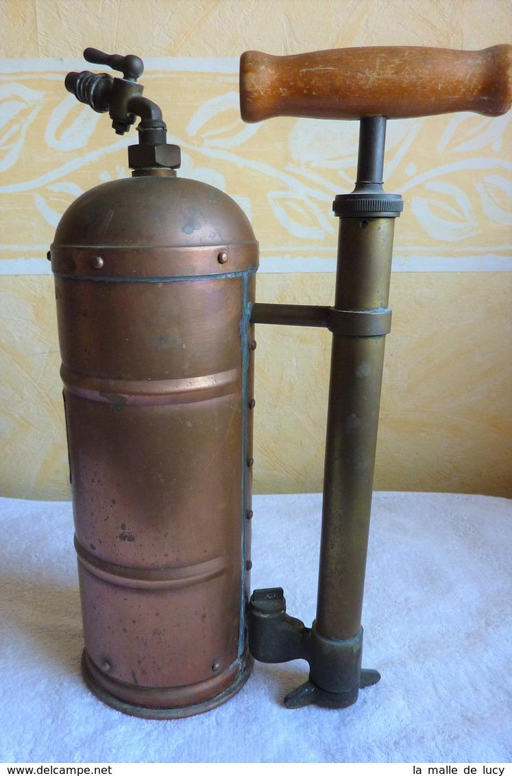 Pulvérisateur à Haute Pression En Cuivre Rouge Vintage - Rame
