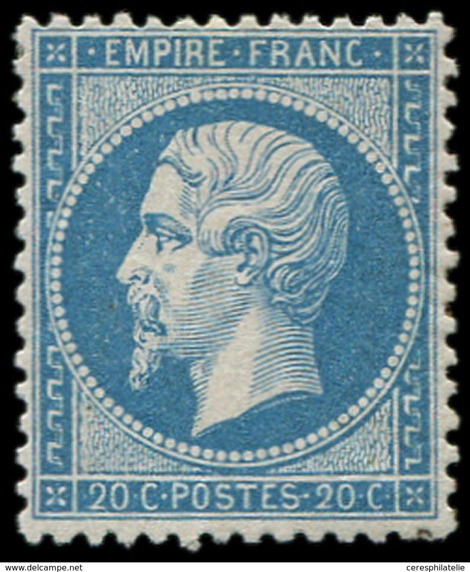 * EMPIRE DENTELE - 22   20c. Bleu, Bon Centrage, TB - 1862 Napoleon III