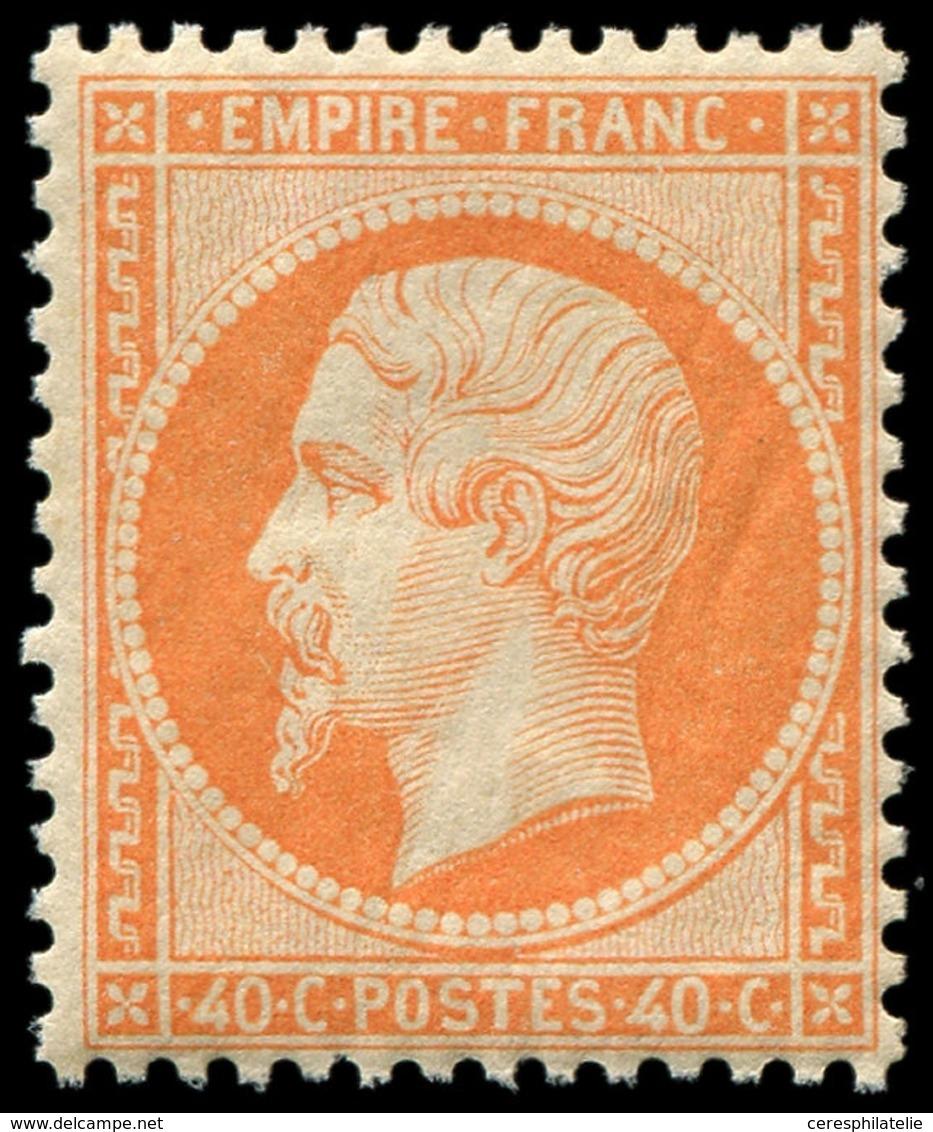 ** EMPIRE DENTELE - 23   40c. Orange, Fraîcheur Postale, TTB - 1862 Napoleon III