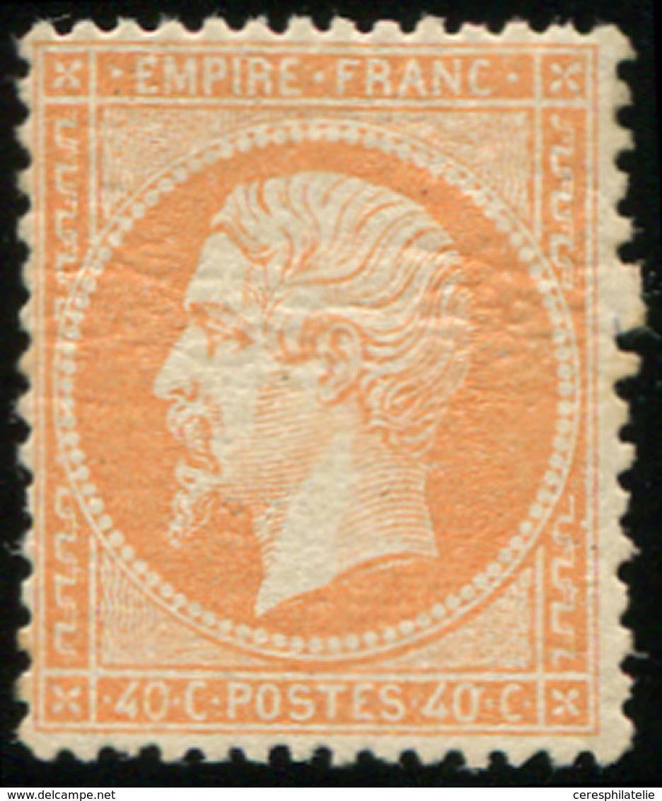 * EMPIRE DENTELE - 23a  40c. Orange Pâle, G. Lég. Craquelée, Sinon TB. Br - 1862 Napoleon III