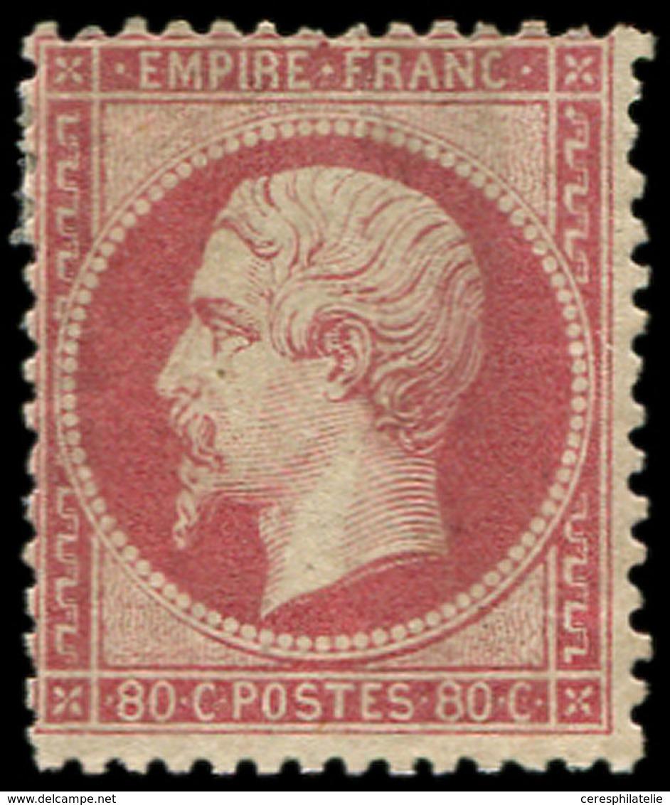 * EMPIRE DENTELE - 24   80c. Rose, Dentelure Irrégulière, B/TB. Br - 1862 Napoleon III
