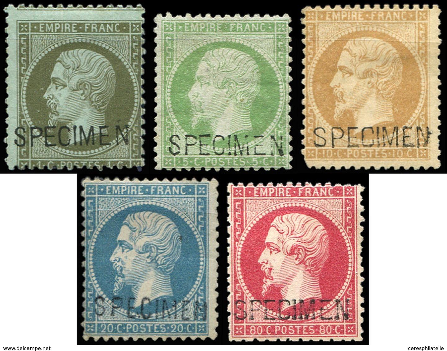 EMPIRE DENTELE - S19f/22d Et 24d, Surch. SPECIMEN * Ou (*), B/TB - 1862 Napoleon III