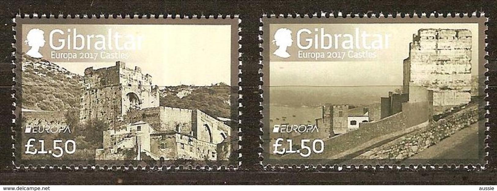 Gibraltar 2017 Micheln° 1772-1773 *** MNH   Cept Europa Castles Châteaux Kastelen - Gibraltar