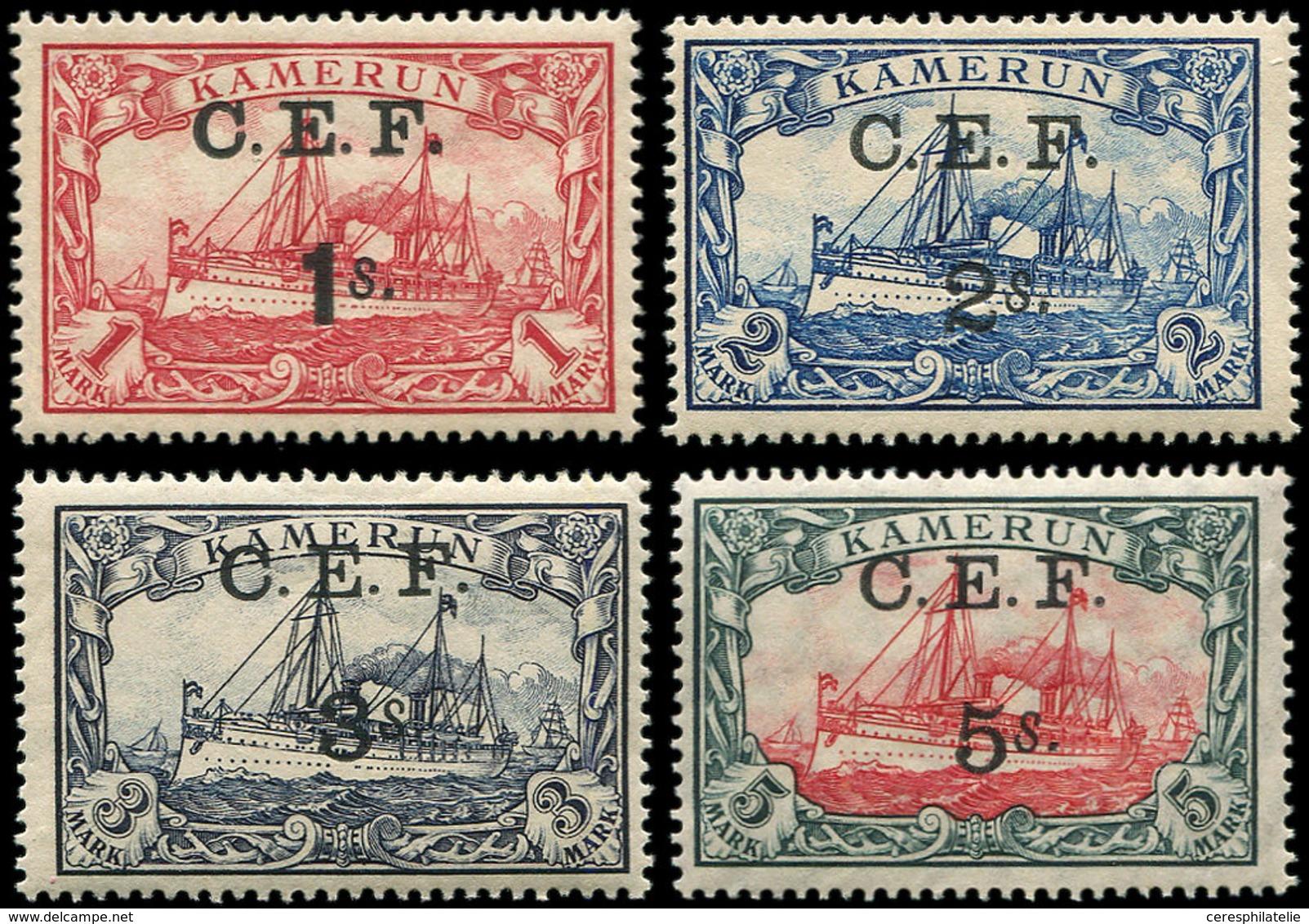 ** CAMEROUN 34/37 : La Série Surchargée C.E.F, TB - Unclassified