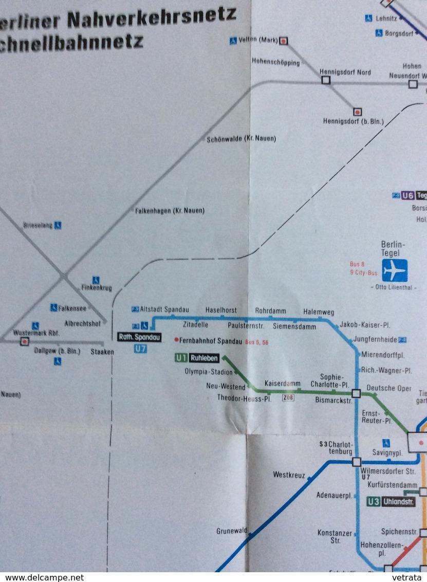 Dépliant : Schnellbahnnetz - Réseau Ferroviaire à Grande Vitesse (avec Plan : Berliner Nahverkehrsnetz Schnellbahnnetz - - Europe