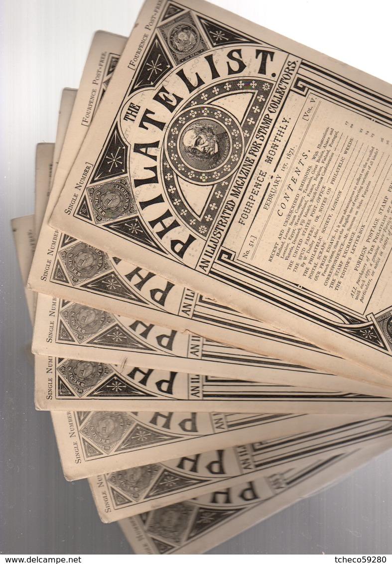 "Angleterre Londres  1871 /"" The Philatelist ""  7 Numeros N° 51+55/60 RARE +  Quarterly Price Catalogue  ( Oct 1872 ) - Magazines"