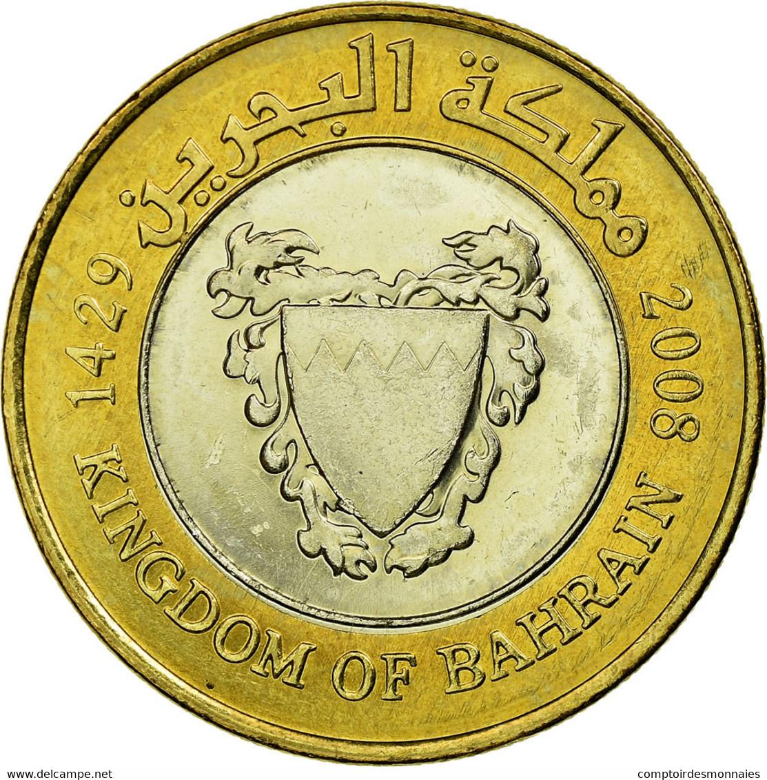 Monnaie, Bahrain, Hamed Bin Isa, 100 Fils, 2008/AH1429, TTB, Bi-Metallic, KM:26 - Bahrain