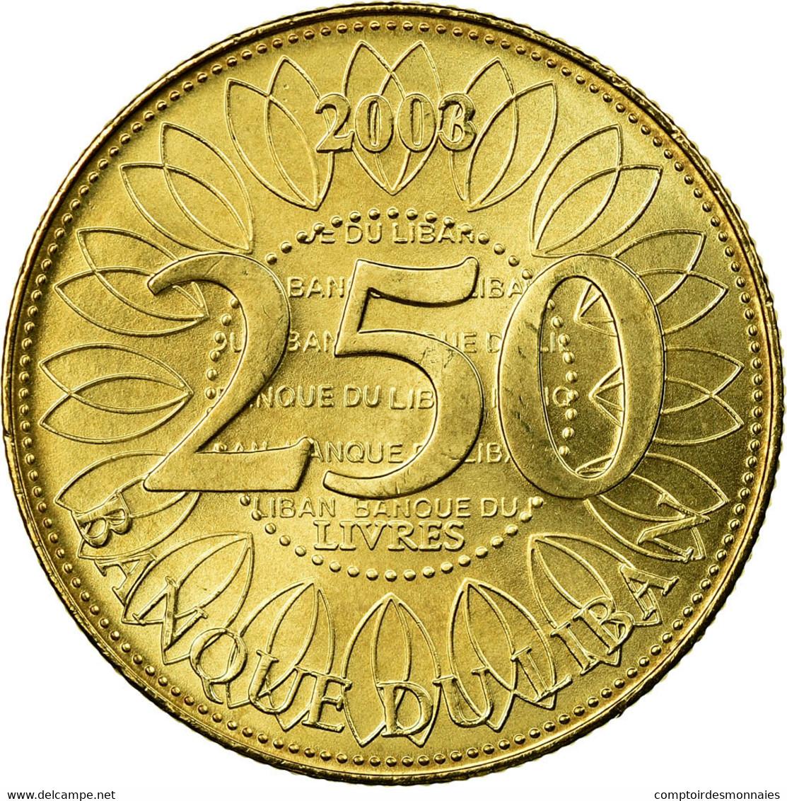 Monnaie, Lebanon, 250 Livres, 2003, TTB, Aluminum-Bronze, KM:36 - Liban