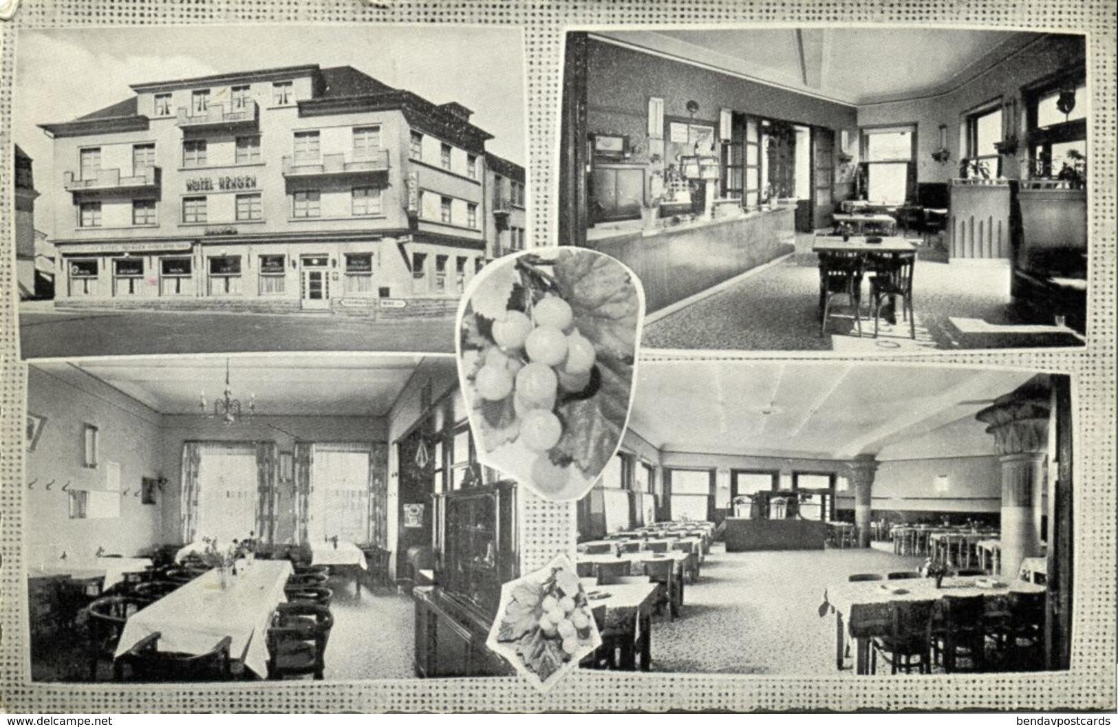 Luxemburg, WASSERBILLIG, Hotel-Restaurant Hengen, Interior (1960s) Postcard - Andere