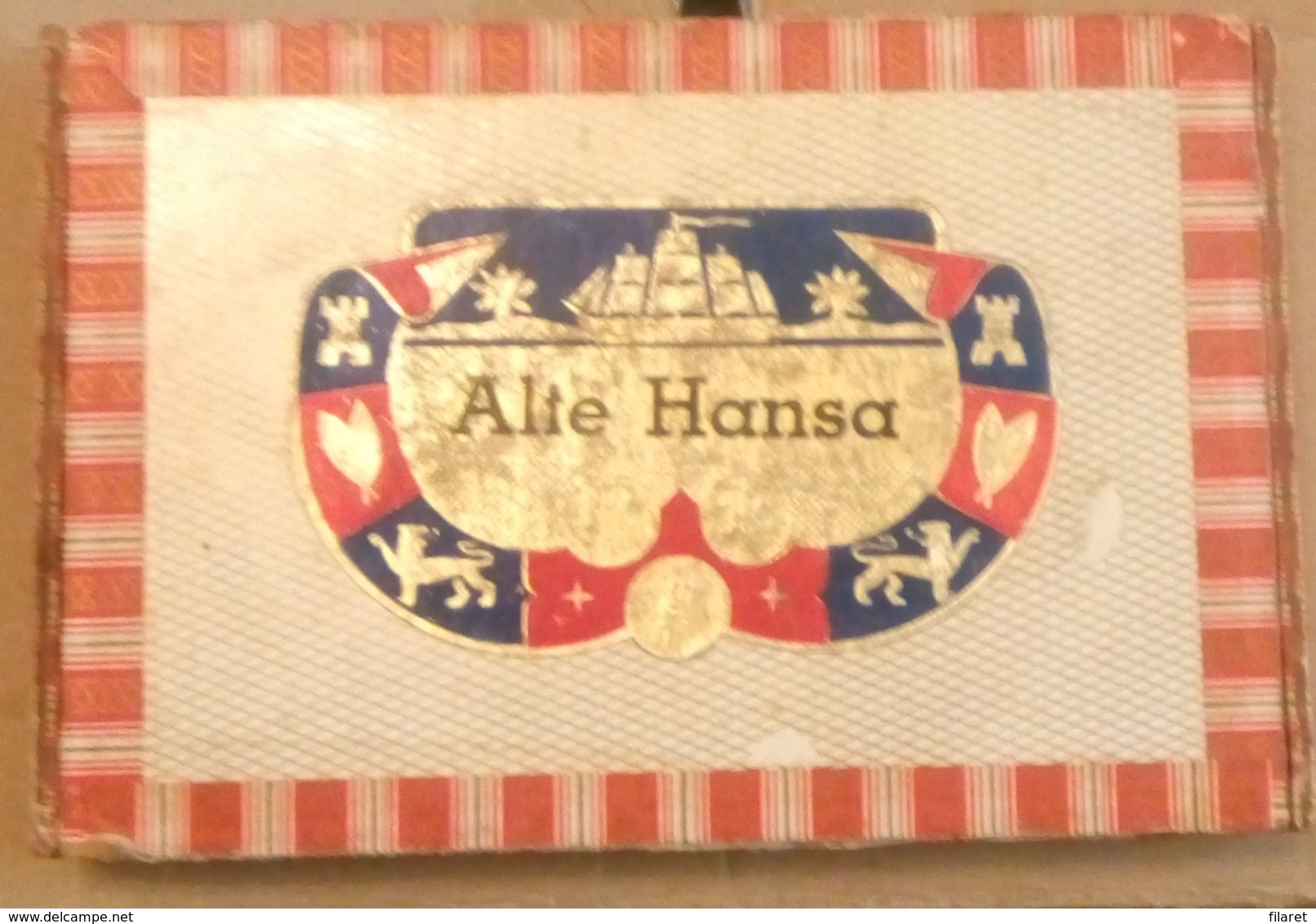 ALTE HANSA SHIPPMENT-SHIPS AT SEA, SAILORS-,OLD  CIGARS BOX,EMPTY - Zigarrenetuis