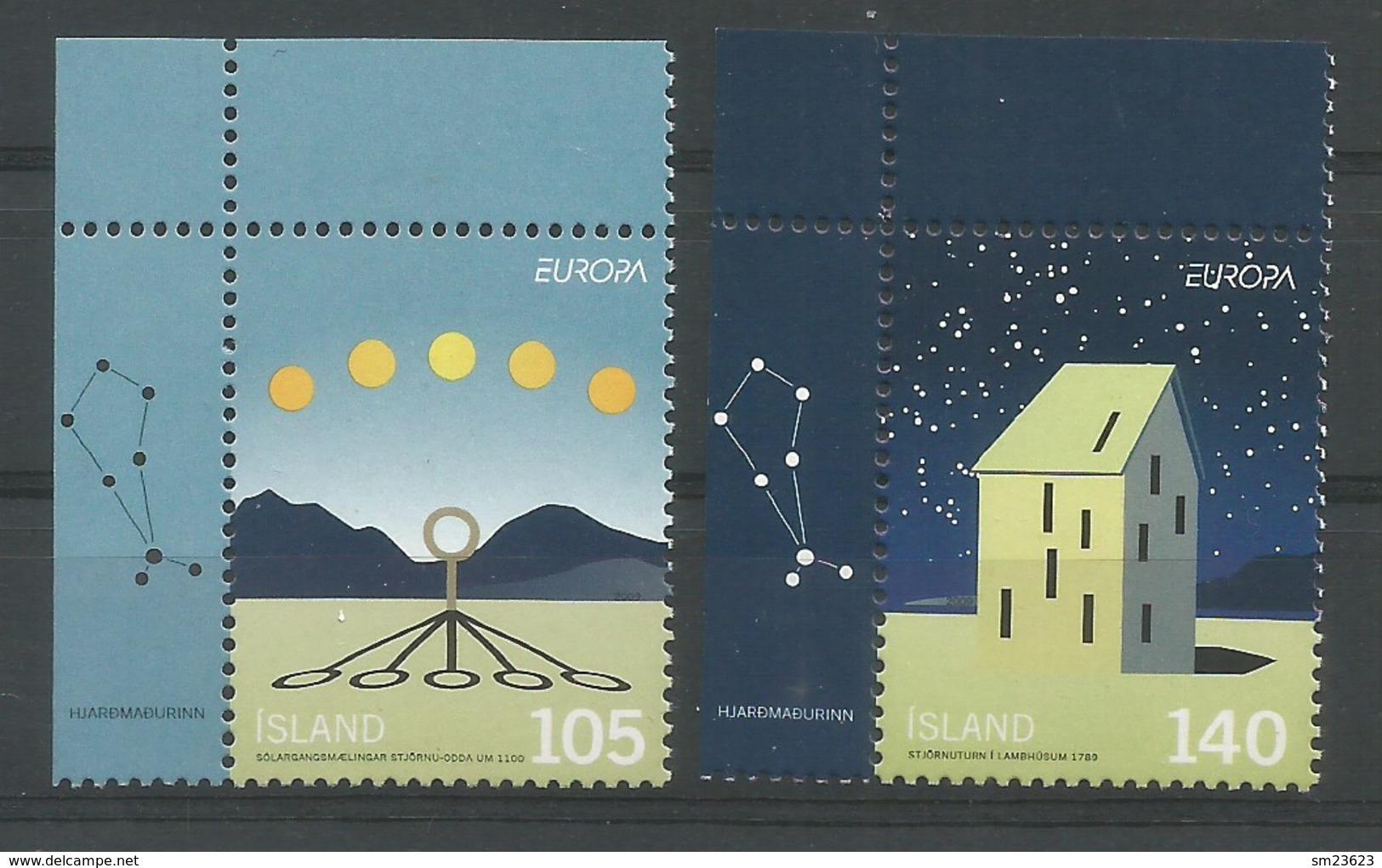 Island  2009  Mi.Nr. 1242 / 1243 , EUROPA CEPT - Astronomie - Postfrisch / MNH / (**) - 2009