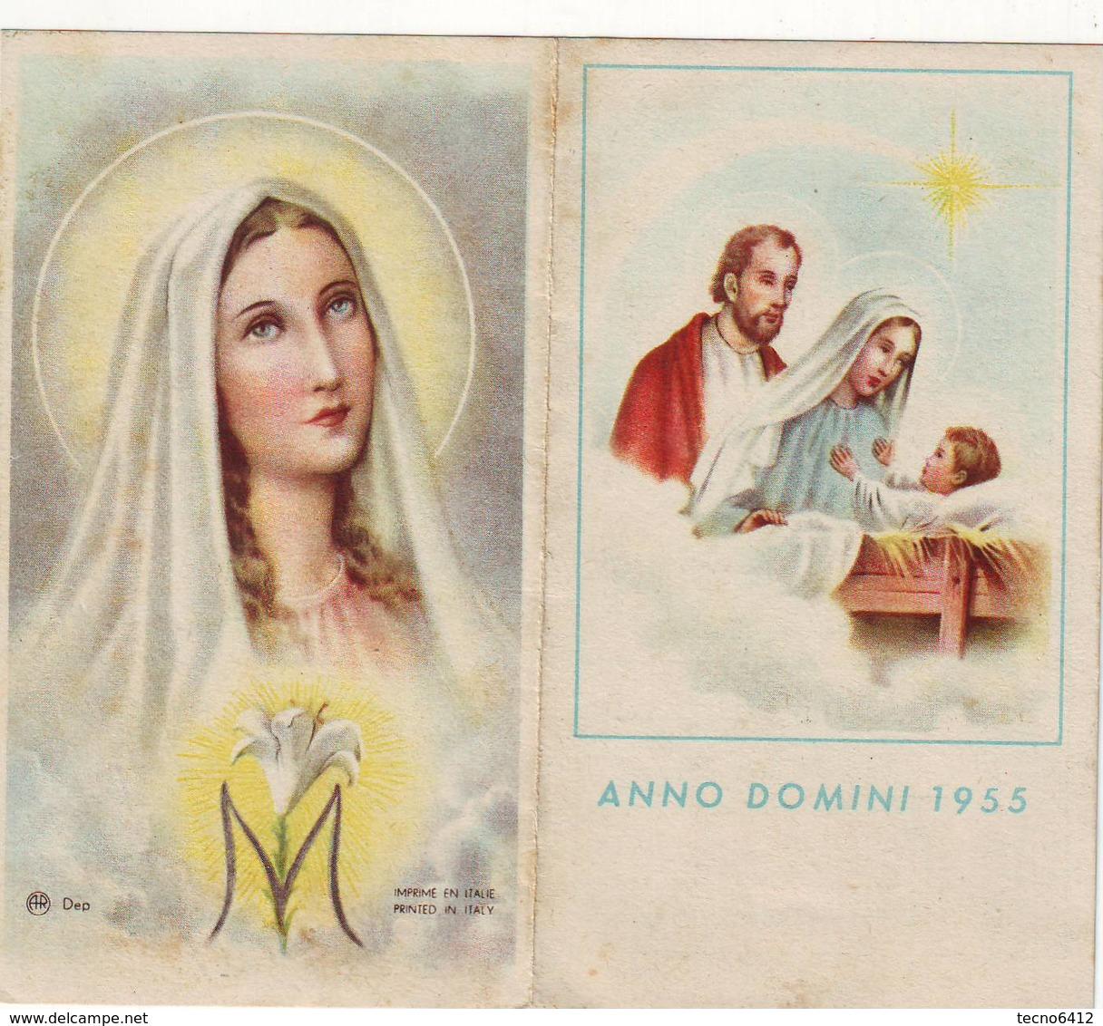 Calendarietto Tascabile Anno Domini 1955 - Calendriers