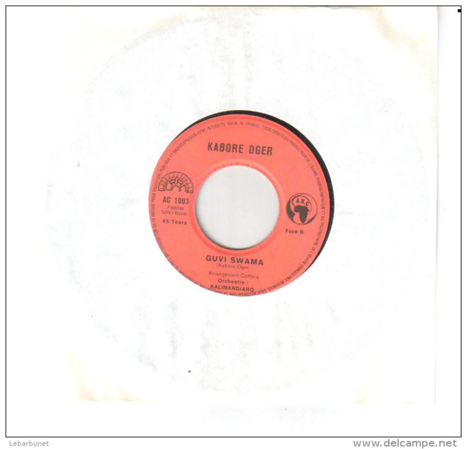 "Disque 45 Tours 2 Titres ""Kaboré Oger "" - 45 T - Maxi-Single"