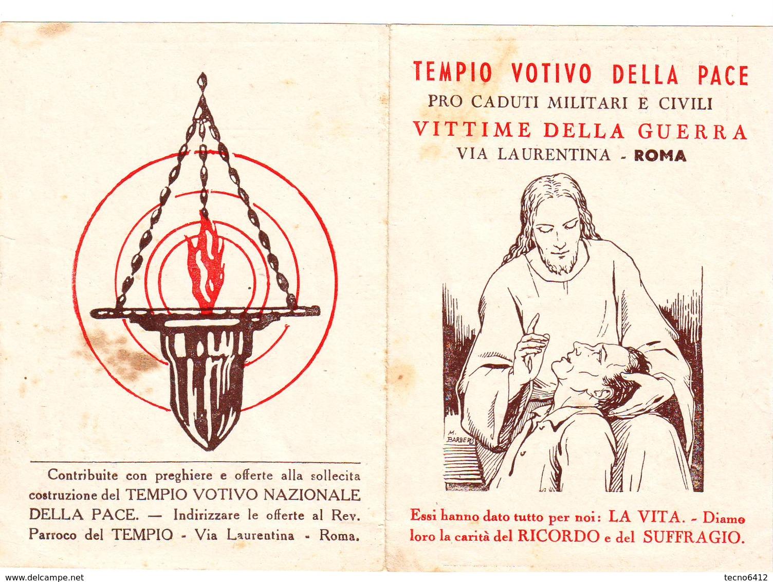 Calendarietto Tascabile Tempio Votivo Della Pace 1949 - Calendriers