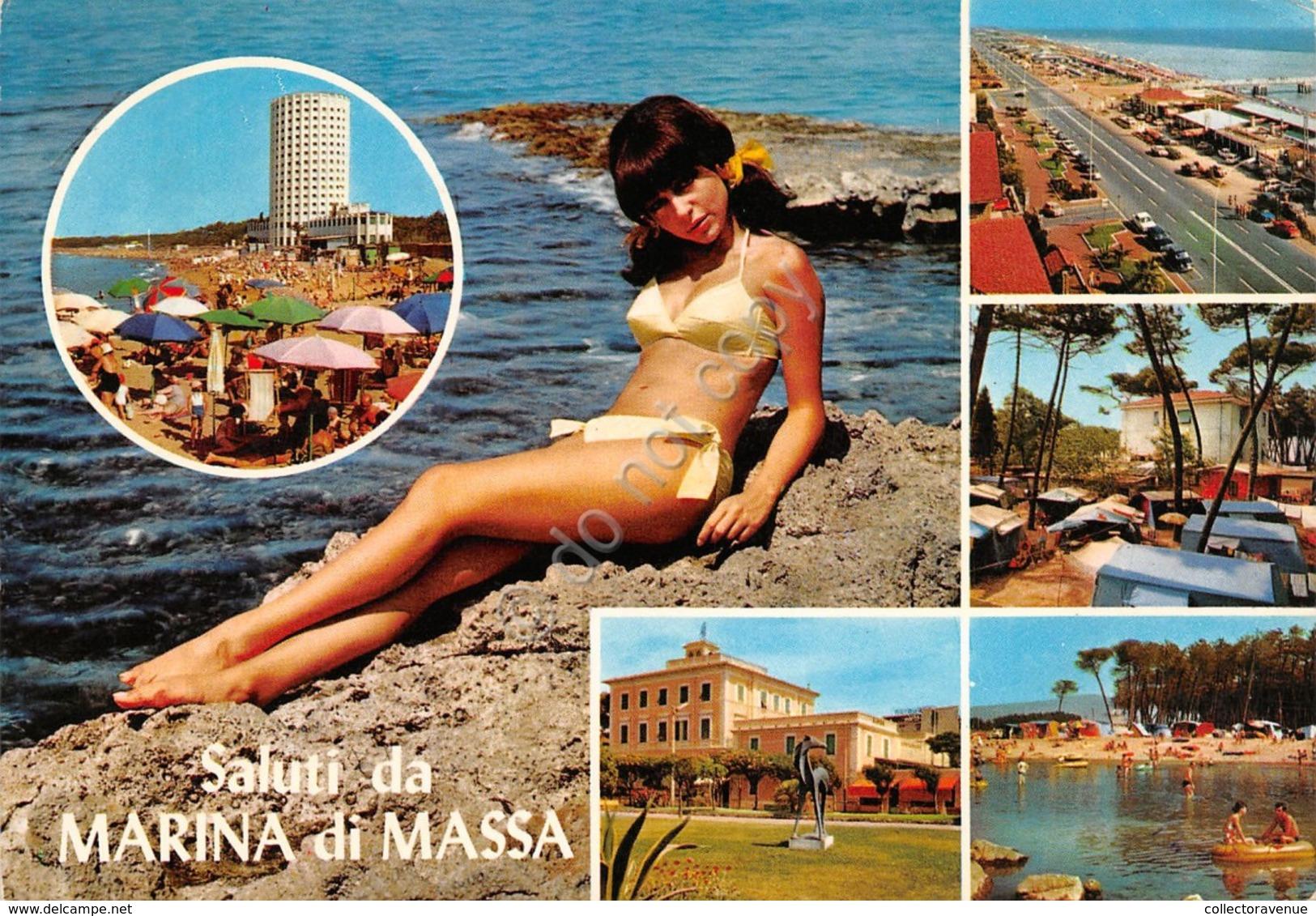 Cartolina Marina Di Massa Vedute Pin Up 1975 - Massa