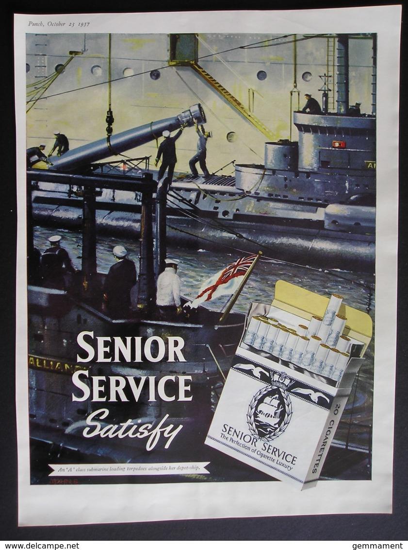 ORIGINAL 1957 MAGAZINE ADVERT FOR  SENIOR SERVICE CIGARETTES. - Other