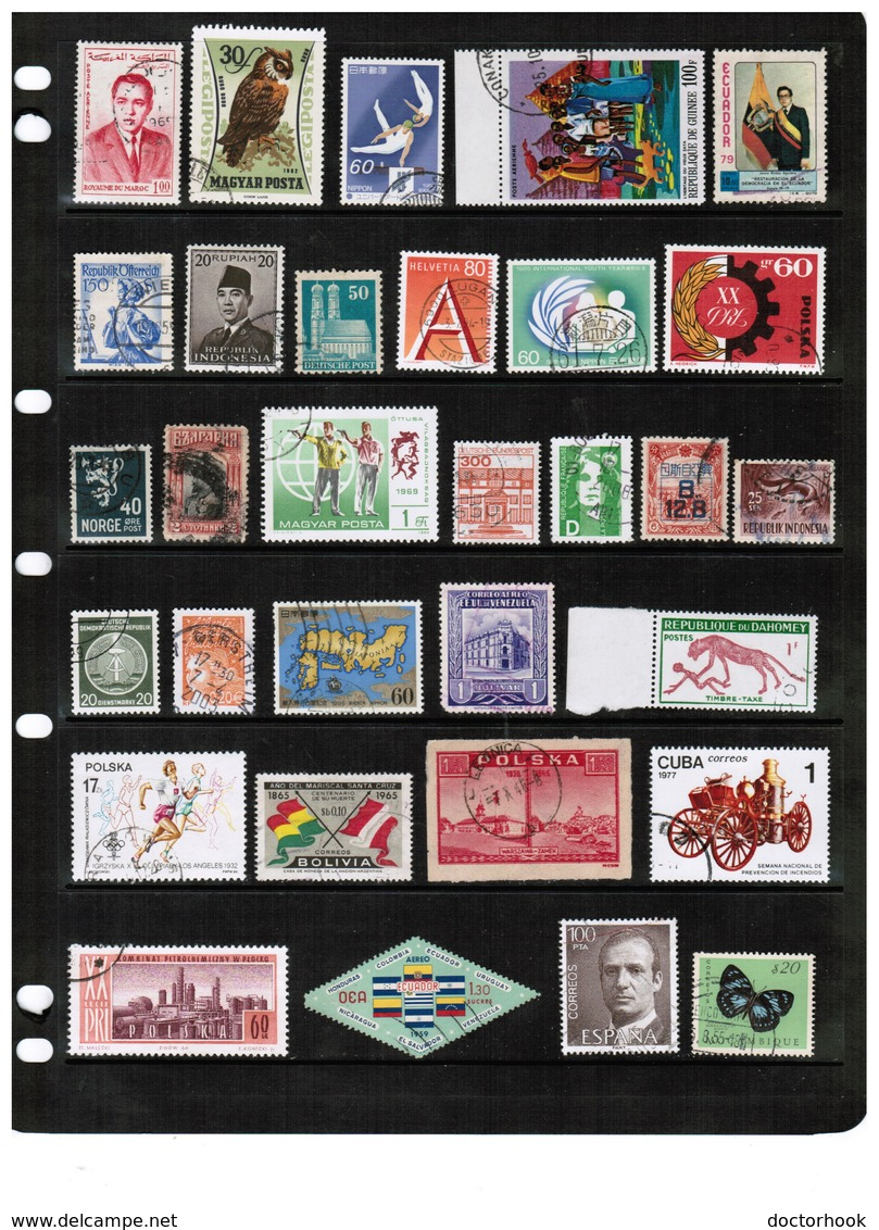 WORLDWIDE---Collection Of USED DL-673 - Stamps