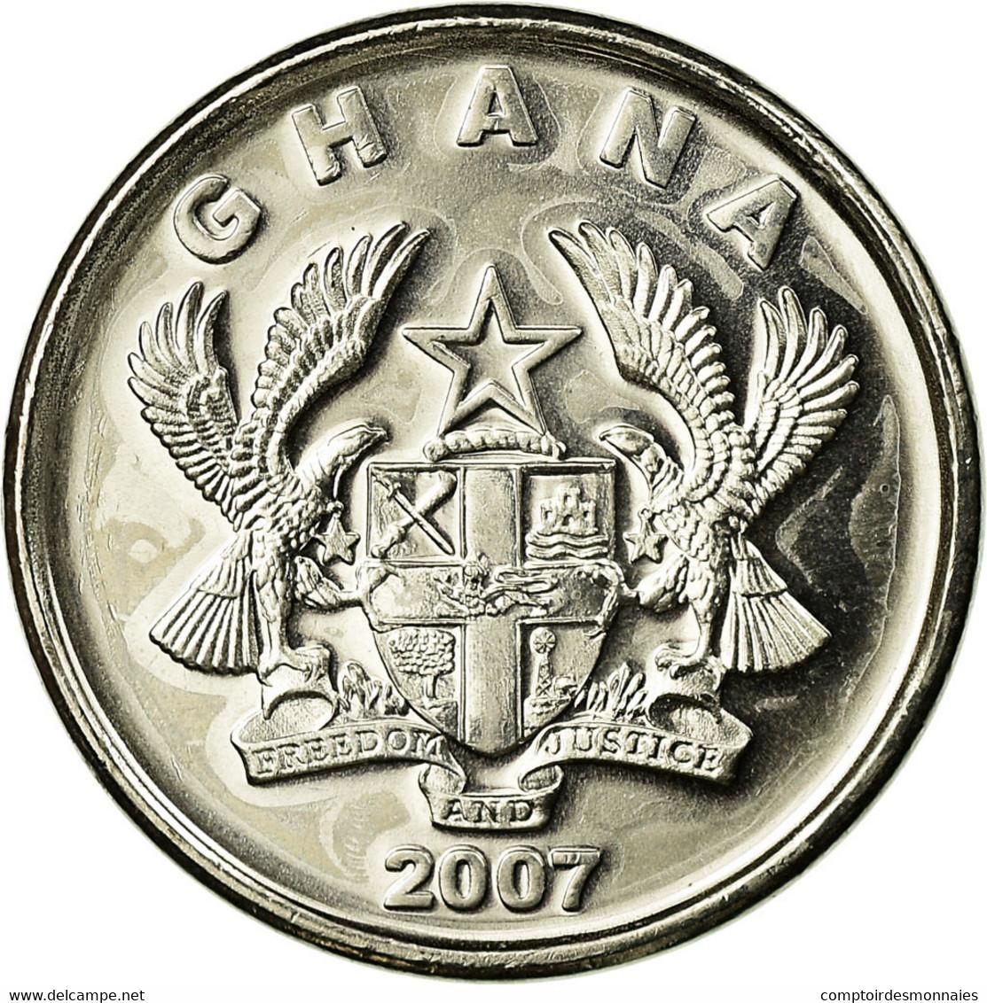 Monnaie, Ghana, 5 Pesewas, 2007, SUP, Nickel Clad Steel, KM:38 - Ghana