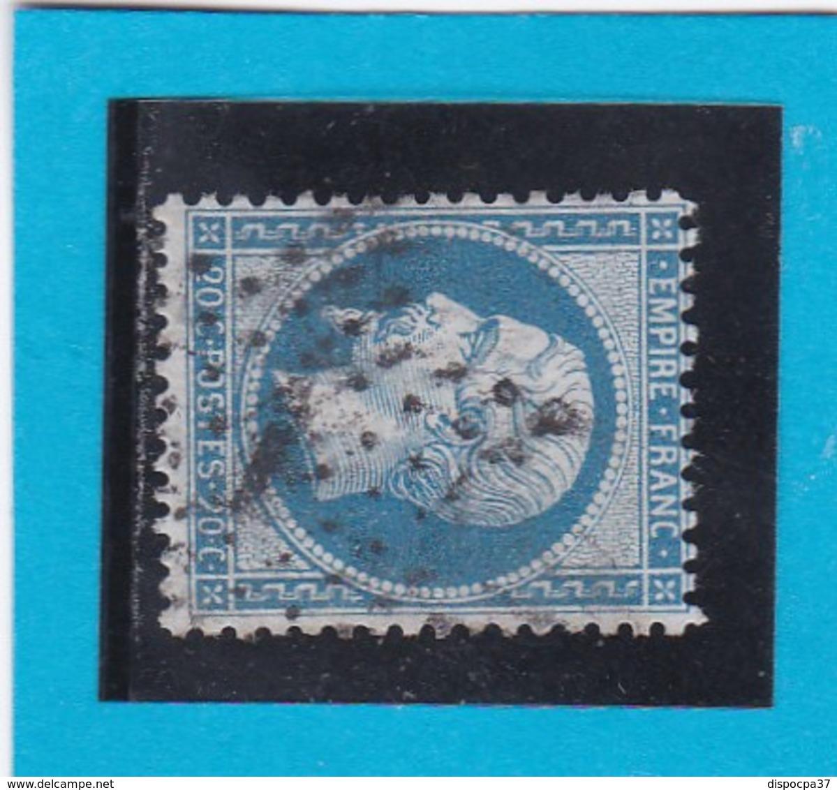 N° 22  Etoile De PARIS N° 1  - Bureau PL. De La BOURSE- REF 14616 - 1862 Napoleon III