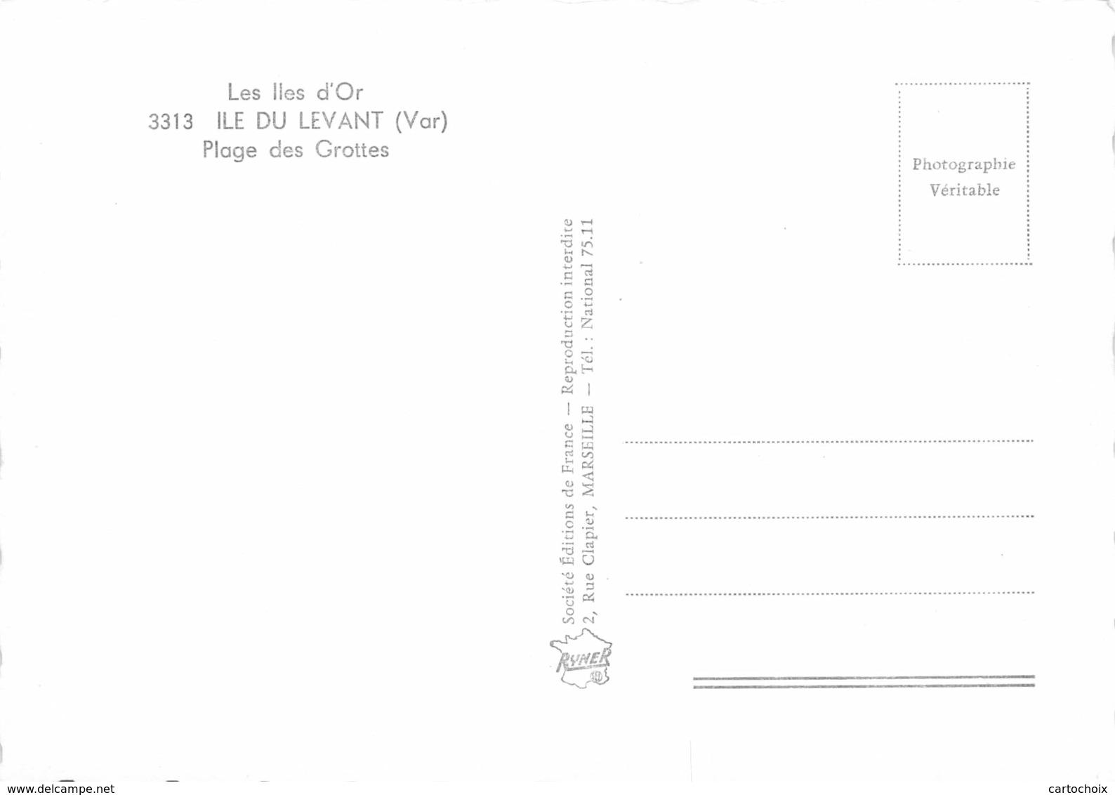 83 - Ile Du Levant - Beau Plan De La Plage Des Grottes - N°1 - Other Municipalities
