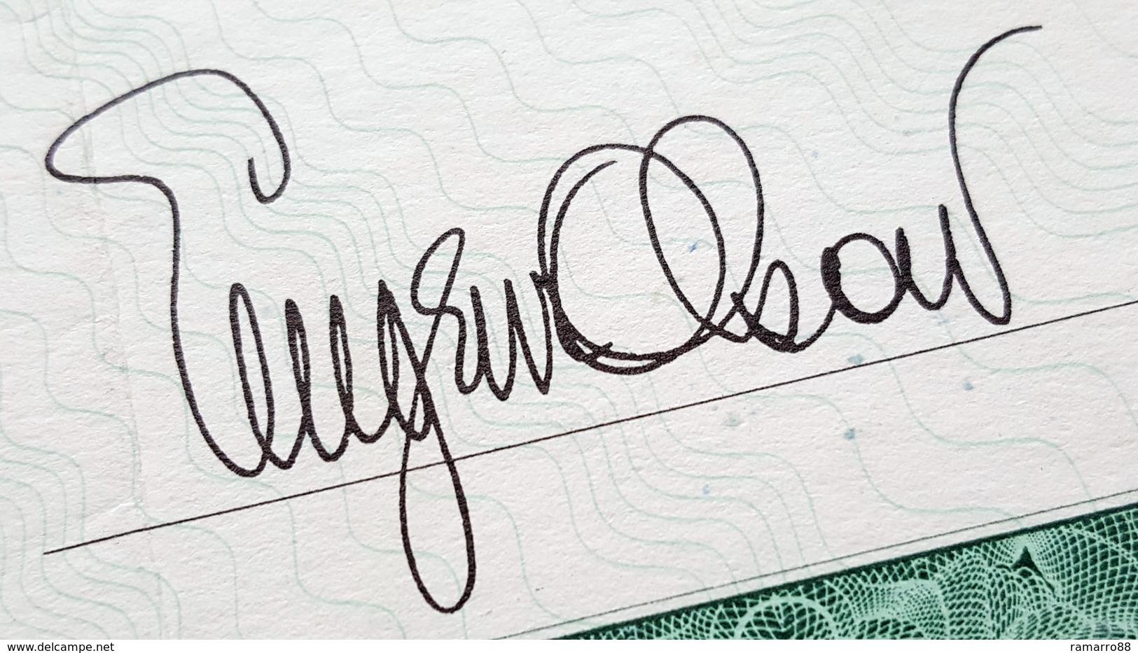 USA - Eugene Olson Banknote Engraver - Rare Bond-like Specimen Promotional Note 1962 VF+ - Specimen