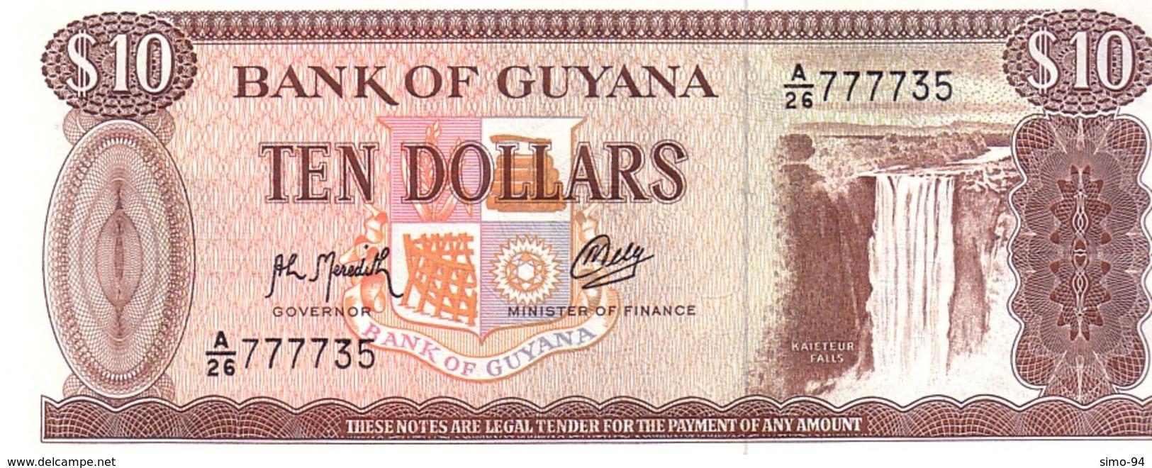 Guyana P.23f 10 Dollars  1992  Unc - Guyana