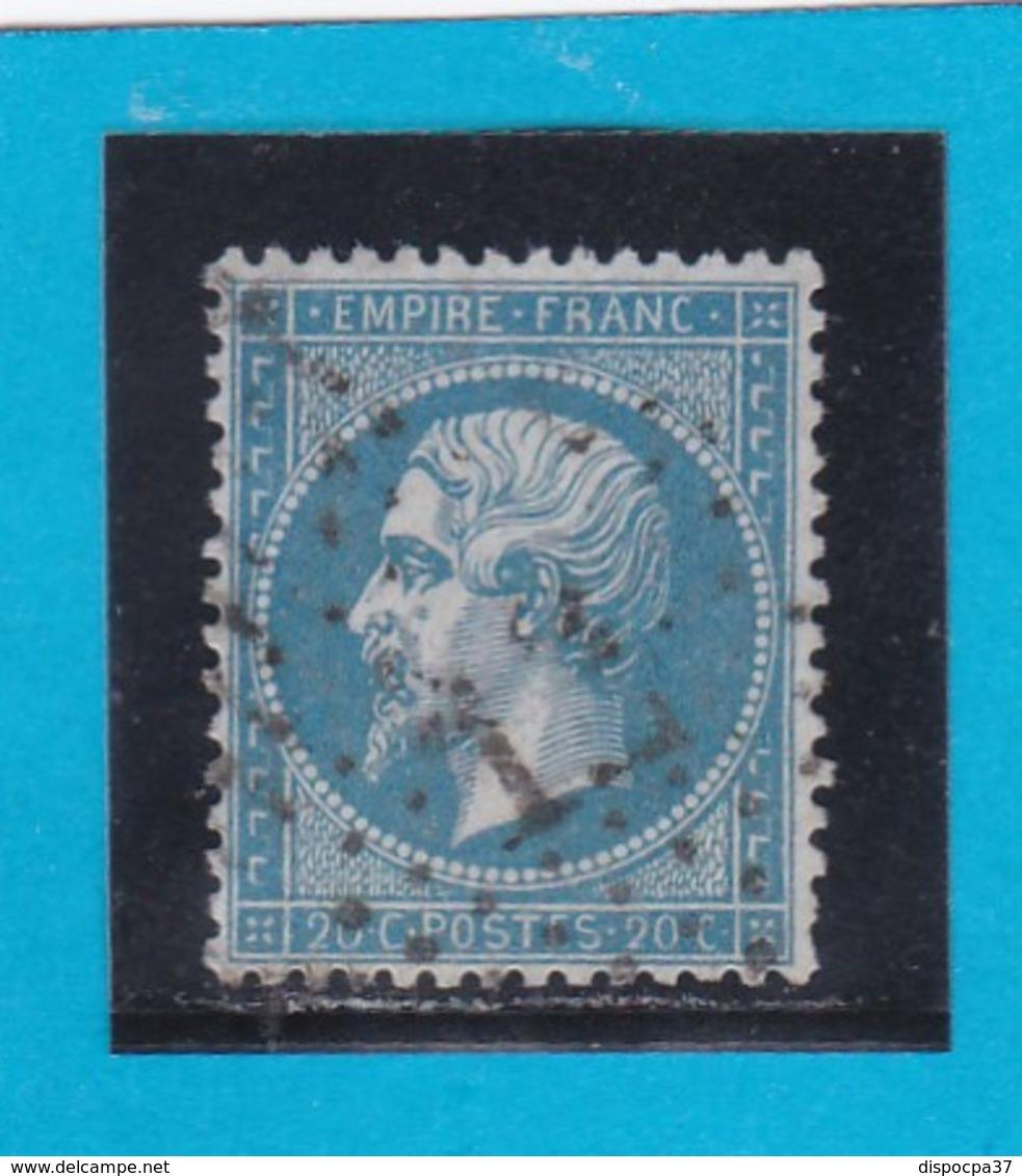 """N° 22    ETOILE DE PARIS """" 12 """" - Bureau Bt BEAUMARCHAIS - REF 14616 - 1862 Napoleon III"""