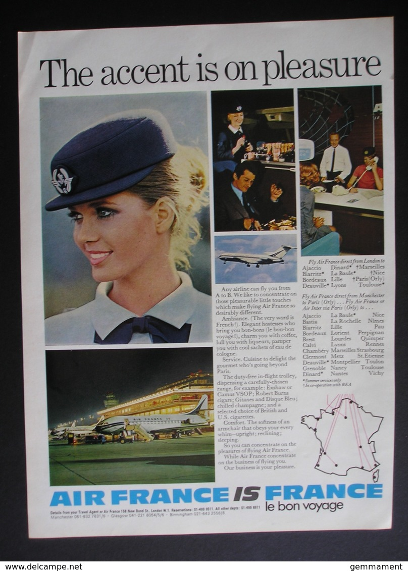 ORIGINAL1972 MAGAZINE ADVERT FOR  AIR FRANCE - Other
