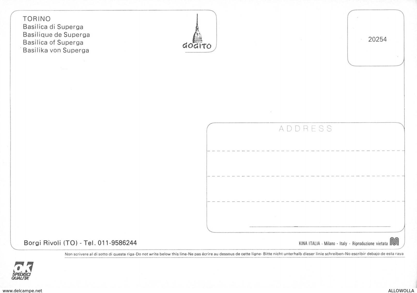 "3208""TORINO-BASILICA DI SUPERGA""ANIMATA LANCIA APPIA - CART. POST. ORIG. NON SPED. - Churches"
